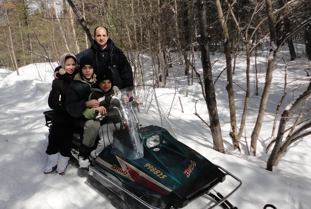 Snowmobiling can be fun for all ages.