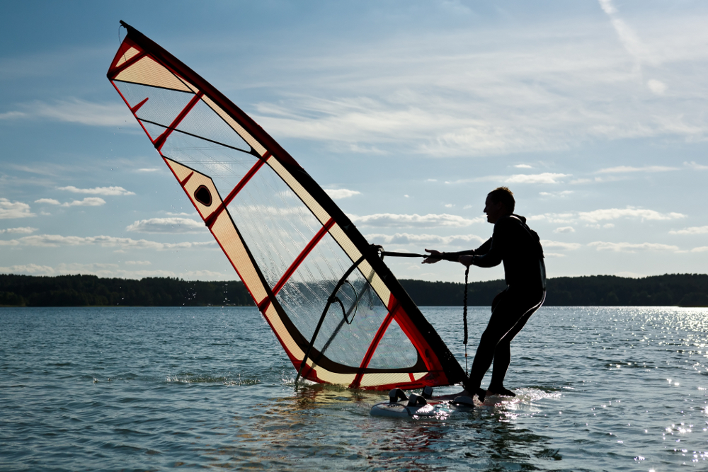 Windsurfing can be a lot of fun.