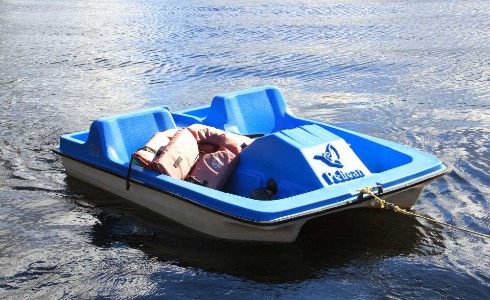 Paddle boat.